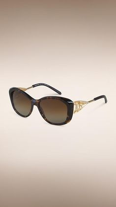 f748344741fd Tortoise shell Gabardine Lace Collection Square Frame Sunglasses - Burberry  Sunglasses