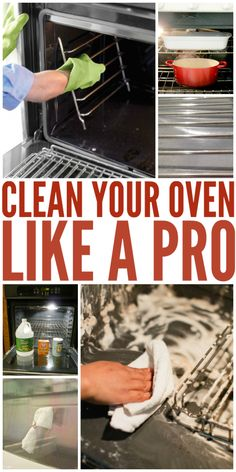 to Clean Your Oven Like a Pro Make your oven sparkle and shine with these pro worthy DIY cleaning tips.Make your oven sparkle and shine with these pro worthy DIY cleaning tips. Deep Cleaning Tips, House Cleaning Tips, Diy Cleaning Products, Cleaning Solutions, Spring Cleaning, Household Products, Oven Cleaning Hacks, Kitchen Cleaning, Household Cleaners