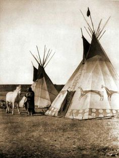 A Sioux Native American Indian teepee Native American Beauty, Native American Photos, Native American Tribes, Native American History, American Indians, Native American Teepee, Blackfoot Indian, Native Indian, Indiana