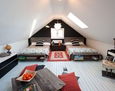 "If you do have a finished attic and you're looking for remodeling ideas, you might want to check out Houzz.com - source for this photo. Check out their ""Create your own Ideabook"" feature. Pretty cool."