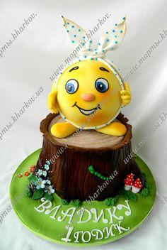 Торт -Колобок Сдобное Печенье, Торты Для Вечеринки, Красивые Торты, Первые Дни Рождения, Выпечка, Рецепты, Мода Торты