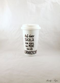 Geburtstagsgeschenk: witziger Coffee to go Becher von Lovely-Cups auf DaWanda.com