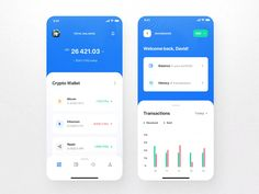 Surge is a Crypto / Wallet iOS app UI Kit consisting of 25 pixel-perfect screens. The kit is easy to fully customize to your liking and it leverages of all Sketch and Figma features, including global color and font styles, dynamic components and responsi Ios App Design, Mobile Ui Design, Web Design Grid, Interaktives Design, Android App Design, Android Ui, Design Food, Web And App Design, Web Design Color