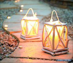 Садовый фонарь из веток своими руками