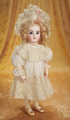 The Empress and the Child - Antique Dolls: 106 French Bisque Bebe by Leon Casimir Bru with Wonderful Original Body