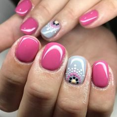80 simple nail art with dotting tool 2018 Spring Nail Art, Nail Designs Spring, Toe Nail Designs, Spring Nails, Nail Summer, Spring Nail Colors, Simple Nail Art Designs, Shellac Nails, Diy Nails