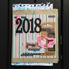 Finally got around to making the front page of the first signature of what will turn into my 2018 journal. This year it's a junk journal.Also, a peek into some of my pages. Junk Journal, Journal Pages, The One, Journaling, Frame, How To Make, Instagram, Art, Picture Frame