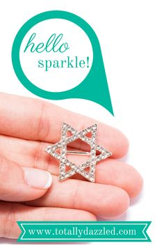 This beautiful star of David rhinestone slider buckle is just $0.98 at totallydazzled.com. Click to see our many rhinestone products. I know we'll dazzle you!