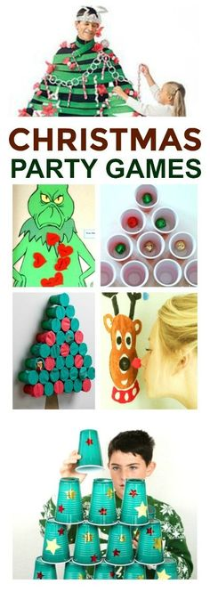 HOLIDAY PARTY GAMES - super fun ideas for all ages! Are you planning a holiday party? Here is a great collection of Christmas party games that people of all ages are sure to love! Preschool Christmas Games, Xmas Games, Holiday Party Games, Kids Party Games, Holiday Fun, Party Fun, Christmas Party Games For Kids, Diy Party, Christmas Games For Children