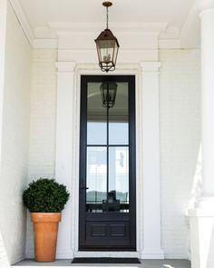 New Black Front Door Entryway Benjamin Moore Ideas Front Door Entryway, Front Door Makeover, Glass Front Door, Front Door Decor, Side Door, Glass Door, Best Front Doors, Green Front Doors, Black Doors
