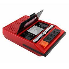 ThinkGeek :: iRecorder - Retro Cassette Player Styled Portable Speaker For iPhone