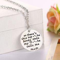 Mom And Son Necklace
