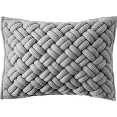 A new way to lounge with your favorite sweatshirt. Cushy cross-hatched stripes square up a tactile design in super-soft navy cotton jersey. Built with intricate construction for major squoosh factor. Accent Pillows, Throw Pillows, Black Pillows, Leather Pillow, Knit Pillow, Soft Furnishings, Crate And Barrel, Hand Weaving, Blanket