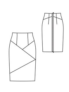 Stretch Jersey Pencil Skirt with back zipper.
