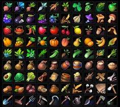 Buy RPG farming Icons by a-ravlik on GraphicRiver. The set includes 100 farming icons . There are transparent PNG. Game Icon Design, Fantasy Map Making, Creating Games, Farm Games, Casual Art, Mobile Art, Cute Games, Furry Drawing, Game Item