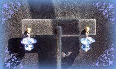 Blue Swarovski earrings by Purrwoof on Etsy, $8.00