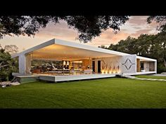 Impressive Modernist Glass-Walled Luxury Residence in Montecito, CA, USA (by Steve Hermann) - YouTube