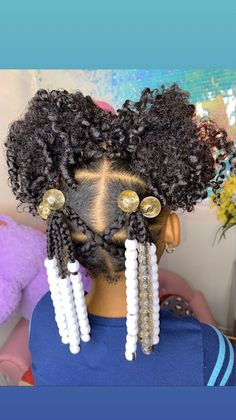 Black Kids Braids Hairstyles, Cute Little Girl Hairstyles, Girls Natural Hairstyles, Baby Girl Hairstyles, Natural Hairstyles For Kids, Natural Hair Styles, Toddler Hairstyles, Kid Braid Styles, Kid Styles