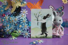 Ace of Wands - The Rabbit Tarot