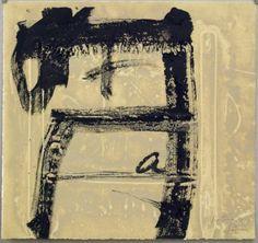Artist: Antoni Tàpies, title: Black Relief (Relleu negre), technology: Etching, aquatint, carborundum, Vernis Mou