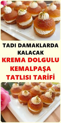 Taste will stay in the palates Kemalpaşa Dessert, Dessert recipes Dinner Recipes, Dessert Recipes, Dessert For Dinner, Iftar, Ham, Tea Time, Yogurt, Deserts, Bread