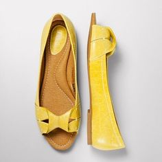 Amanda Open Toe Flat #shoes #flats #yellow
