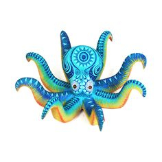 Gorgeous little octopus by Rocio Fabian sister of Raymundo and Magdaleno. This beautiful <strong>pulpo</strong> is wonderfully painted ... Precioso!