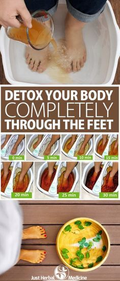 Secret Health Remedies How to Detox Your Body Completely Through the Feet Healthy Detox, Healthy Tips, Vegan Detox, Natural Medicine, Herbal Medicine, Natural Cures, Natural Health, Natural Detox, Natural Cleanse