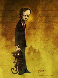 """""""Sin embargo, el cariño que el gato me demostraba parecía crecer en razón directa de mi odio hacia él""""  El Gato Negro - Edgar Allan Poe"""