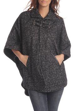Wool Poncho - looks so comfy!