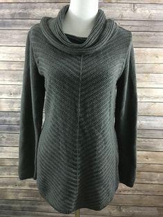 Style & Co. Women's Gray Long Sleeve Cowl Neck Sweater Size Medium NEW…