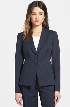 Free shipping and returns on Classiques Entier® Pinstripe Suit Jacket at Nordstrom.com. Impeccably tailored and smartly priced, a jacket cut for a feminine fit gets a dash of menswear polish from a season-spanning suiting fabric patterned with classic pinstripes.