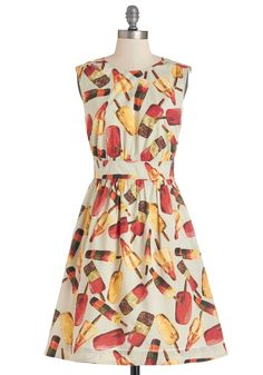 This dress looks super cute, I'd wear this all summer! Too Much Fun Dress in Popsicles, @ModCloth