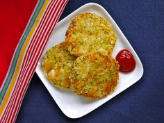 Broccoli & Cheese Patties on Weelicious