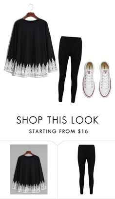 """Untitled #1"" by mckenna1 ❤ liked on Polyvore featuring Boohoo and Converse"