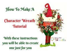 Fall Wreaths Halloween Wreaths Wreaths For by WishingWellWreaths Tulle Wreath Tutorial, Christmas Elf, Christmas Ornaments, Elf Characters, Make A Character, Fall Wreaths, Halloween Wreaths, Wishing Well, Deco Mesh