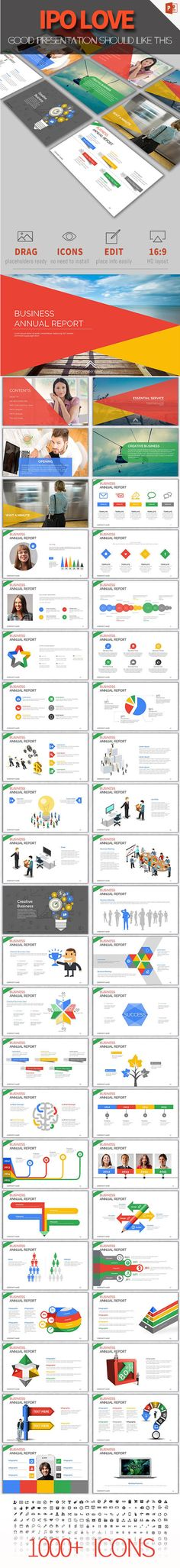 Business Annual Report PowerPoint Template #design #slides Download: http://graphicriver.net/item/business-annual-report/13367520?ref=ksioks