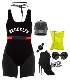 """""""Day fit Strut your Sport"""" by naomichinx ❤ liked on Polyvore featuring SPANX, New Look, Anya Hindmarch, Giuseppe Zanotti, Olivia Burton, Linda Farrow and Jil Sander Navy"""