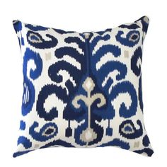 Hey, I found this really awesome Etsy listing at https://www.etsy.com/listing/120521339/blue-pillow-cover-ikat-pillow-cover-blue