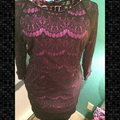 Nicole Miller Lace Dress Fun, fits tight. Worn once. Great condition. Has pockets in front. Nicole by Nicole Miller Dresses