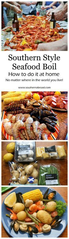 Southern Style Seafood Boil - Cooking bits and pieces , Seafood Broil, Seafood Boil Party, Seafood Dinner, Seafood Bake, Cajun Seafood Boil, Crab Broil, Mussels Seafood, Crawfish Party, Seafood Pizza