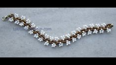 Easy flower bracelet with just size 11s ~ Seed Bead Tutorials