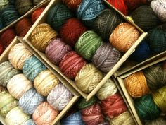 Valdani hand dyed embroidery threads.  Repinned by www.mygrowingtraditions.com