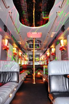 Interior of 40 Passenger New Orleans Party Bus