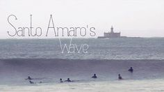 Santo Amaro's Wave by Manuel Portugal. Every now and then, after a storm, Santo Amaro's beach is washed up by a perfect swell... The first surfer who spots it spreads the word and after while it's crowded. This was one of that rare days.