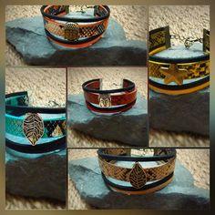 Jolie création de bracelets à personnaliser en choisissant la couleur et le charme #créaud #bracelet #manchette #bouddha