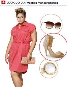 Dica de look: vestido monocromático! Confortável e básico, o vestido da Vooz é perfeito para festas durante o dia, onde o dress code é menos sofisticado! Que tal, meninas?
