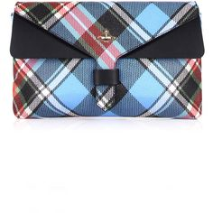 Vivienne Westwood Edinburgh 44020007 Clutch (1,020 BAM) ❤ liked on Polyvore featuring bags, handbags, clutches, white handbag, tartan plaid handbags, tartan handbags, vivienne westwood handbags and plaid purse