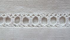 Antique Linens by Em's Heart- Vintage French Linen Monogrammed Sheet