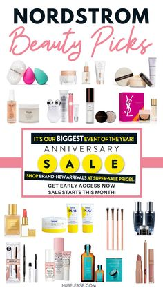 The Nordstrom Anniversary Sale is this month!  Don't have time to go through the entire sale page or catalog? Click here for the best beauty picks from the Anniversary Sale!  Including makeup, skincare, hair care, beauty tools, fragrance, and mens grooming! #nordstrom #anniversarysale #nordstromsale #beautysale #makeupsale